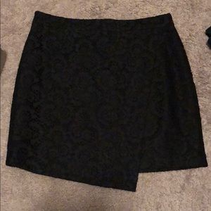 Madewell black lace skirt size 10 brand new